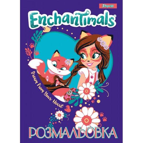 """Раскраска А4 1Вересня А4 """"Enchantimals"""", 12 стр. 742759"""