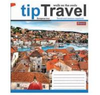 Тетрадь 1 Вересня, А-5, 96л, линия,  Tip travel