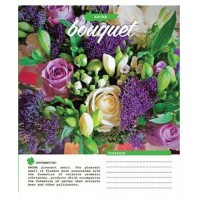Тетрадь 1 Вересня, А-5, 96л, клетка,  Bouquet