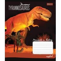Тетрадь 1 Вересня, А-5, 12л, косая линия,  Dinosaurus