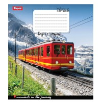 Тетрадь 1 Вересня, А-5, 48л, линия,  Trains&Nature