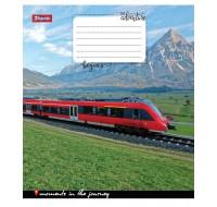Тетрадь 1 Вересня, А-5, 96л, линия,  Trains&Nature