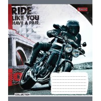 Тетрадь 1 Вересня, А-5, 36л, линия,  Moto Ride
