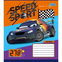 Тетрадь 1 Вересня, А-5, 12л, косая линия, Cars_Speed_Sport