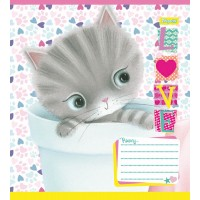 Тетрадь 1 Вересня, А-5, 12л, клетка,  Little Meow Love