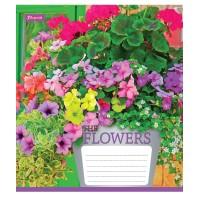 Тетрадь 1 Вересня, А-5, 12л, косая линия,  Flowers bouquet