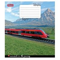 Тетрадь 1 Вересня, А-5, 12л, косая линия,  Trains&Nature