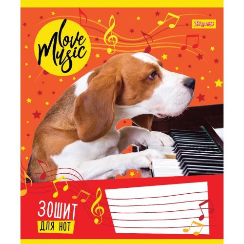 "Нотная тетрадь А5 12 л. 1В ""Music Pets"" 763312"