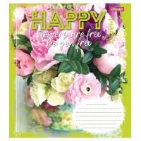 А5/12 кл. 1В HAPPY FLOWERS , тетрадь ученич.