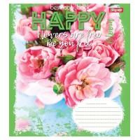 А5/36 кл. 1В HAPPY FLOWERS, тетрадь для записей