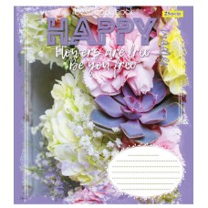 А5/36 лин. 1В HAPPY FLOWERS, тетрадь для записей