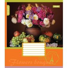 А5/48 лин. 1В FLOWERS BOUQUET, тетрадь для записей