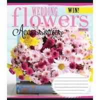 А5/60 лин. 1В WEDDING FLOWERS, тетрадь для записей