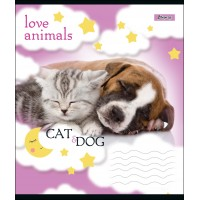 А5/12 кл. 1В LOVE ANIMALS, тетрадь учен.