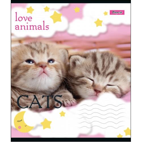 А5/18 лин. 1В LOVE ANIMALS, тетрадь учен. 764543