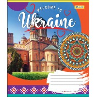 А5/18 лин. 1В WELCOME TO UKRAINE, тетрадь учен.