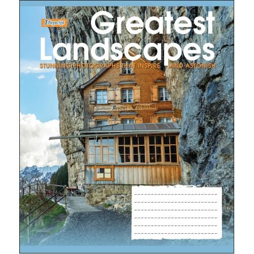А5/24 лин. 1В GREATEST LANDSCAPES, тетрадь учен. 764597