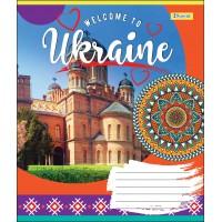 А5/36 лин. 1В WELCOME TO UKRAINE, тетрадь для записей