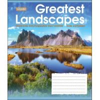 А5/36 лин. 1В GREATEST LANDSCAPES, тетрадь для записей