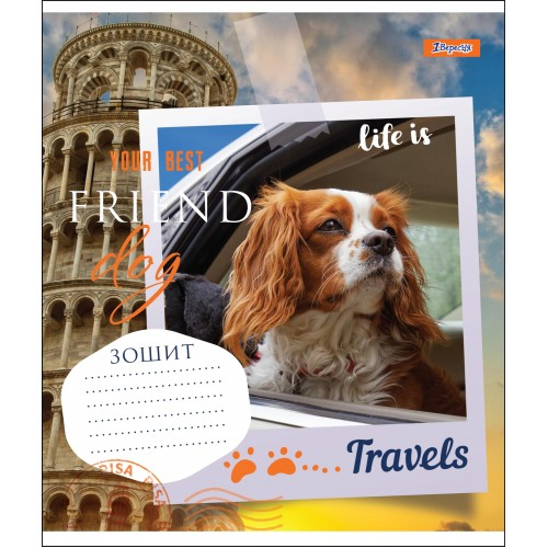 А5/48 лин. 1В YOUR BEST FRIEND, тетрадь для записей 764636