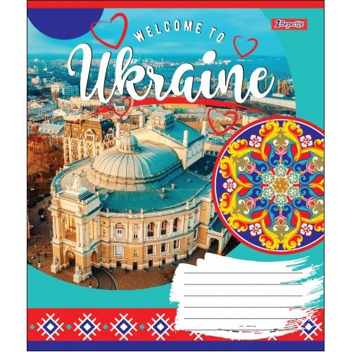 А5/48 лин. 1В WELCOME TO UKRAINE, тетрадь для записей 764639