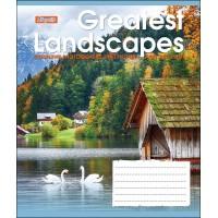 А5/48 лин. 1В GREATEST LANDSCAPES, тетрадь для записей