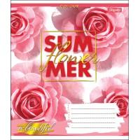 А5/48 лин. 1В SUMMER FLOWER, тетрадь для записей