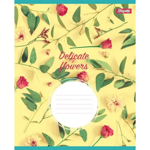 А5/12 кос. 1В DELICATE FLOWERS, тетрадь учен. 764813