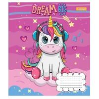 А5/12 лин. 1В Happy unicorn, тетрадь учен.