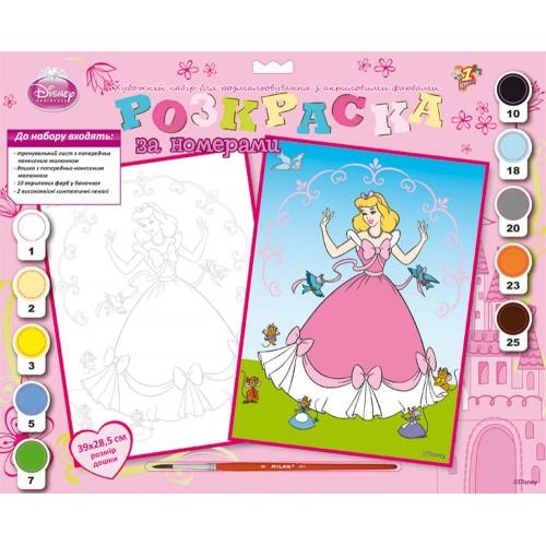 """Раскраска по номерам """"Принцессы 1"""" (39*28,5см) 950769"""