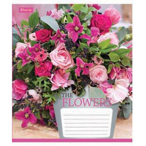 А5/24 лин. 1В Flowers bouquet -17 тетрадь ученич. 680102