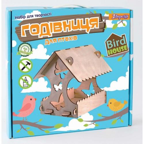 "Набор для творчества ""Сделай сам"", деревянная кормушка для птиц с бабочками 952925"