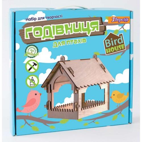 """Набор для творчества """"Сделай сам"""", деревянная кормушка для птиц домик 952927"""