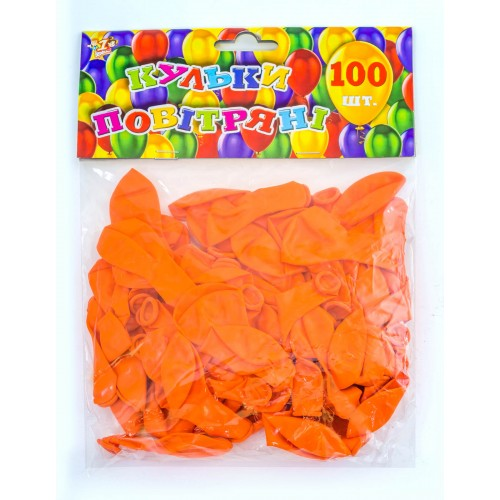 Шар воздушный 13 см стандарт оранж. 100шт/уп 701621