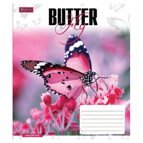 А5/24 лин. 1В Butterflys -17 тетрадь ученич. 760348