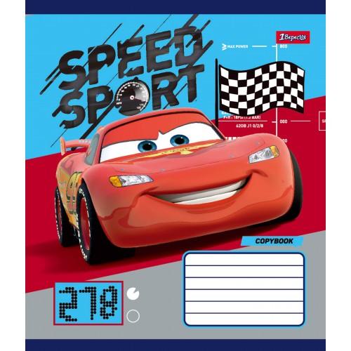 А5/12 кос. без д/л 1В Cars_Speed_Sport -17 тетрадь ученич. 760437