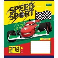А5/12 кос. без д/л 1В Cars_Speed_Sport -17 тетрадь ученич.
