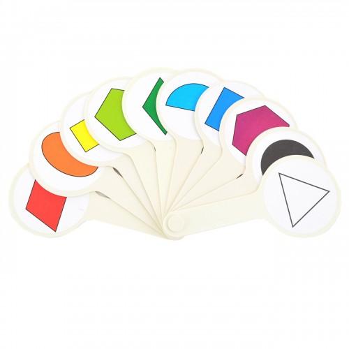 Набор цветов и геометрических фигур (веер) 910971