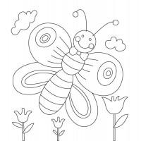 "Холст с контуром ""Бабочка"" (15см*15см) с красками"