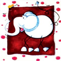 "Холст с контуром ""Слон"" (30см*30см)"