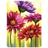 "Холст с контуром ""Цветы"" (30см*40см) с красками"