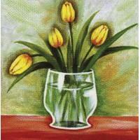 "Холст с контуром ""Желтые тюльпаны"" (30см*30см)"