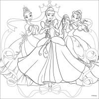 """Холст с контуром """"Принцессы-2"""" (30см*30см) с красками"""
