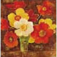 """Холст с контуром """"Полевые цветы"""" (30см*30см) с красками"""