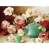 """Холст с контуром """"Чайные розы"""" (30см*40см)"""
