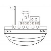 """Холст с контуром """"Лодка"""" (20см*25см) с красками"""