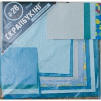 """Набор для творчества """"Скрапбукинг"""" №28 бумага 20*20см(16л), цвет бирюзовый"""