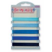Набор лент декоративных, 1 см (5шт/100см), оттенки синего