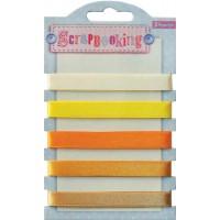 Набор лент декоративных, 1 см (5шт/100см), оттенки жёлтого