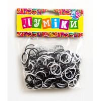 Набор резинок для плетения чёрно-белые, 300 шт, 12 застёжек
